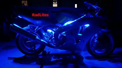12 Piece Orange Motorcycle LED Light Kit with Remote and Effects, Brightest! - Light Ground Effect Kit