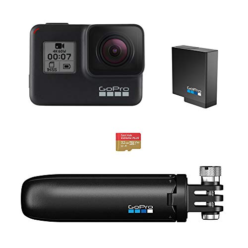 GoPro Hero 7 Black with Shorty, SD Card and Rechargeable Battery Price & Reviews