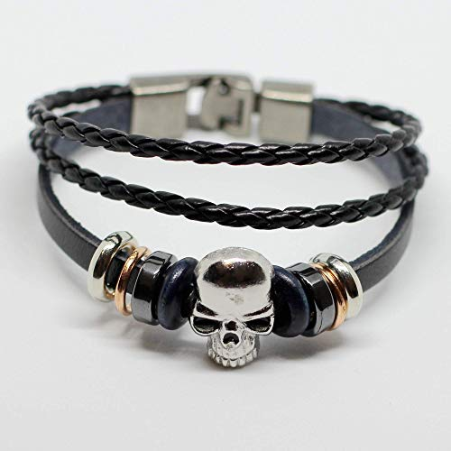 Men's leather bracelet Women's leather bracelet Skull bracelet Charm bracelet Rings bracelet Braided leather bracelet Woven leather bracelet Bands bracelet Bangle bracelet Fashion bracelet ()