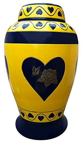 Urnporium Adult Funeral Brass Cremation Urn with Butterfl...