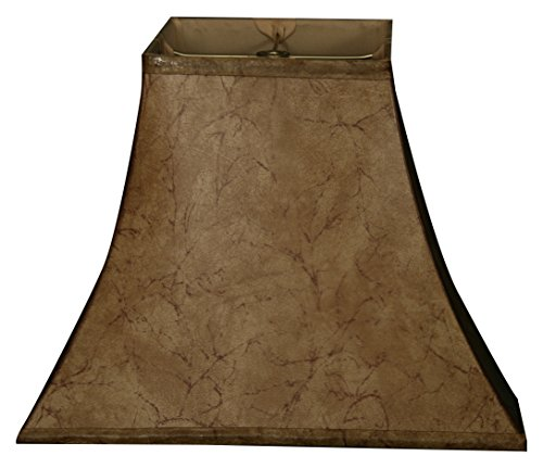 (Royal Designs Square Bell Basic Lamp Shade, Faux Rawhide 6 x 12 x 10.5 )