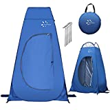 Fruiteam Pop Up Privacy Tent for Portable Toilet Shower Silver Coated Dressing Changing Room Tent UV Protection Privacy Shelter Camping Cabana, Blue