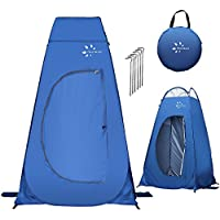 Fruiteam Pop Up Privacy Tent for Portable Toilet Shower (Blue)
