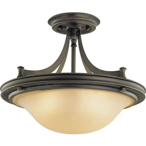 Feiss SF195ORB 3-Bulb Semi Flush Mount Wall Sconce, Oil Rubbed Bronze Finish
