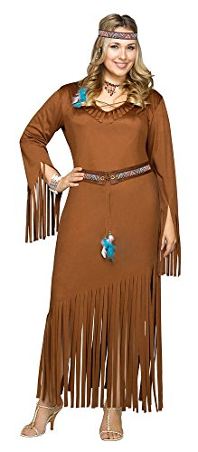 Indian Summer Native American Adult Costume (Plus 22-24)
