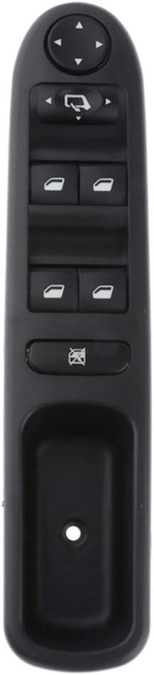 Bj. 2002-2014 non-brand Elektrische Fensterheber Schalter Hauptschalter vorne Links f/ür Peugeot 307 Break 3E //307 SW 3H