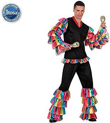 Atosa 10200 Disfraz Rumbero M-L Hombre Multicolor: Amazon.es ...