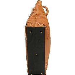 Le Donne Leather Women\'s Laptop/Handbag Brief (Black)