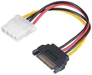 Akasa AK-CBPW03-15 SATA Power to 4 Pin Molex Connector Adaptor by Akasa