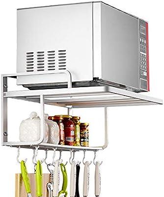 SqsYqz Espacio Aluminio Microondas Horno Cocina Hornos Bastidores ...
