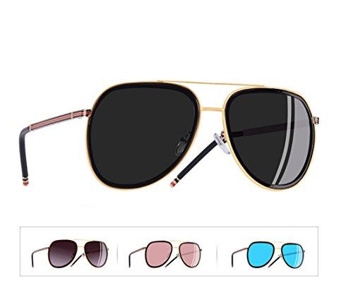 sol espejo de Gris mujer mujer clásicas Espejo Mujer piloto Gafas De Gafas sol polarizadas aviador Gafas de Sol Polarizadas de Gafas sol Rosa aTSUOR