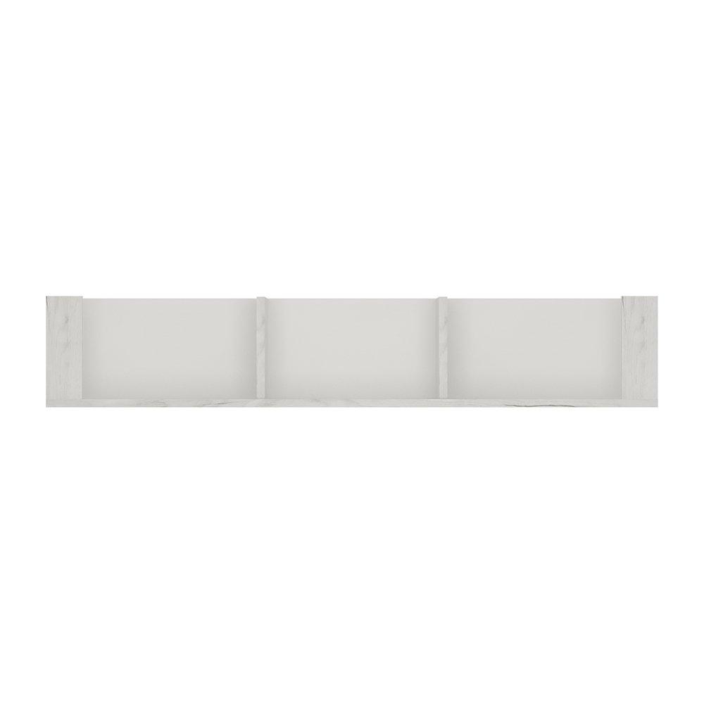 Furniture To Go Angel Wall Shelf, Wood, White Oak, 118.7 cm Wojcik 4216162