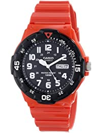 Men's MRW-200HC-4BVCF Stainless Steel Watch with Red...