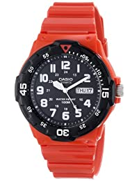 Casio Men's MRW200HC-4B Classic Diver Inspired Watch, Red