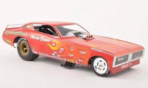 Dodge Charger Funny Car, Gene Snow Rambuctious, NHRA, 1971, Modellauto, Fertigmodell, ERTL American Muscle 1:18