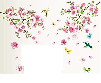 Hallobo Xxl Wandtattoo Blumen Vogel Schmetterling Wandaufkleber