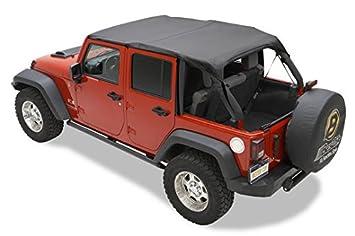 Black diamond Jeep Wrangler JK 2 portes couleur Bikini header version:Safari