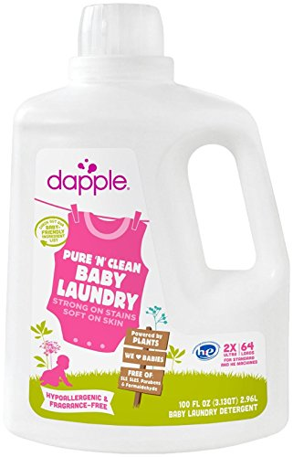 Dapple Baby Laundry Detergent, Fragrance Free, 100 Ounce