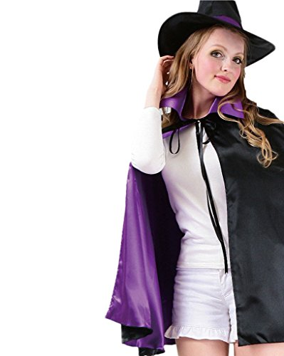 [I'MQueen Robe Purple Cape Cloak Cosplay Christmas Costumes with Collar for Girls] (2 Person Halloween Costumes For Kids)