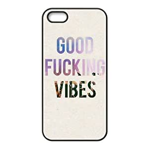 Customized Durable Case for Iphone 5,5S, Good Vibes Phone Case-504438