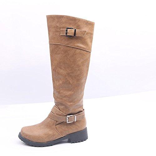 rotonda scarpe Donyyyy three doppia e con Forty testa fibbia da piatto donna fondo di r8fx8Fwtq