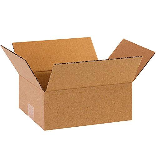"""BOX USA B863 Flat Corrugated Boxes, 8"""" x 6"""" x 3"""", Kraft (Pack of 25)"""