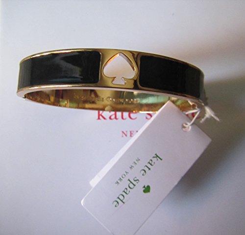 Kate Spade Hole Punch Spade Black Bangle Bracelet