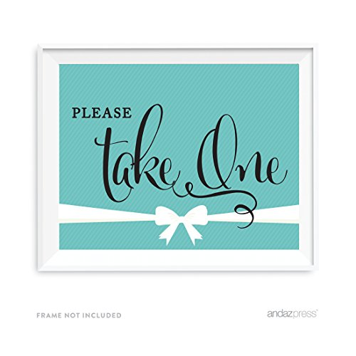 Andaz Press Bride & Co. Collection, Please Take One Favors Party Sign, 8.5x11-inch, 1-pack, For Bridal Shower, Engagement, Wedding, or Baby & Co Baby Shower Event Decorations]()