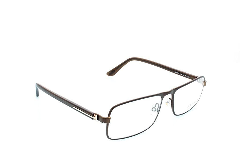 5a6276c3cc0 Tom Ford Rx Eyeglasses - TF5201 Brown 56mm   Frame only with demo lenses.   Amazon.in  Clothing   Accessories