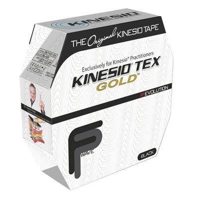 Tex Tape - fabrication enterprises Kinesio Tape, Tex Gold FP (Black)