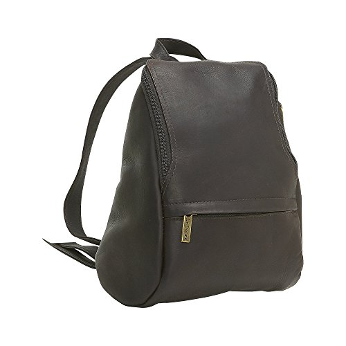le-donne-womens-leather-u-zip-mini-back-pack-cafe