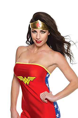 Rubie's Costume Co Women's DC Superheroes Wonder Woman Tiara, Multi, One Size - Wonder Woman Mask