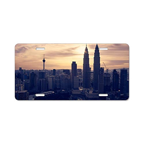 "YEX Abstract Aerial Architectural design22 License Plate Frame Car License Plate Covers Auto Tag Holder 6"" x 12"""