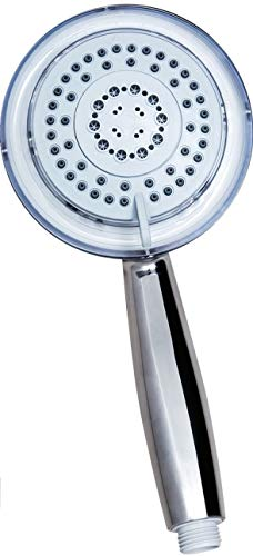 Utopia Home Handheld LED Shower with 5 Functions - Rain, Massage, Mist, Shower and Water Saving - 3 Color Changing Water Temperature Sensor - Only Shower Piece
