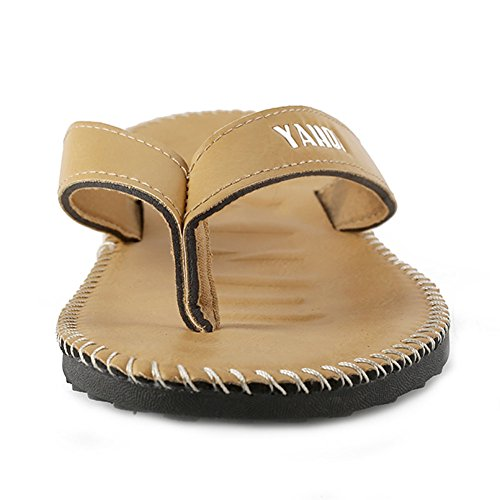 YQMU006 Sandalias Para LOVE YANQI Caqui PVC de Hombre 6qwAPE5