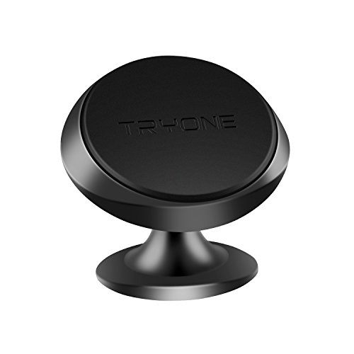 Magnetic Phone Car Mount, Tryone Universal Phone Holder, Magnet Car Dashboard Mount Compatible with Smartphones(Black)