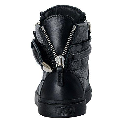 Sneakers Women's Black Leather Fashion Zanotti Giuseppe Shoes qzw0YIB