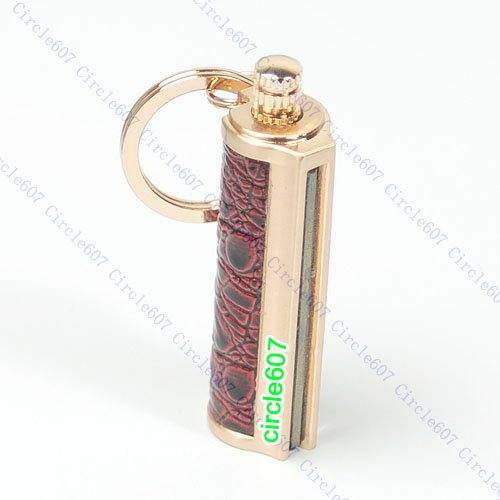 Tebatu KeyChain Permanent Match Striker Lighter Keyring Golden