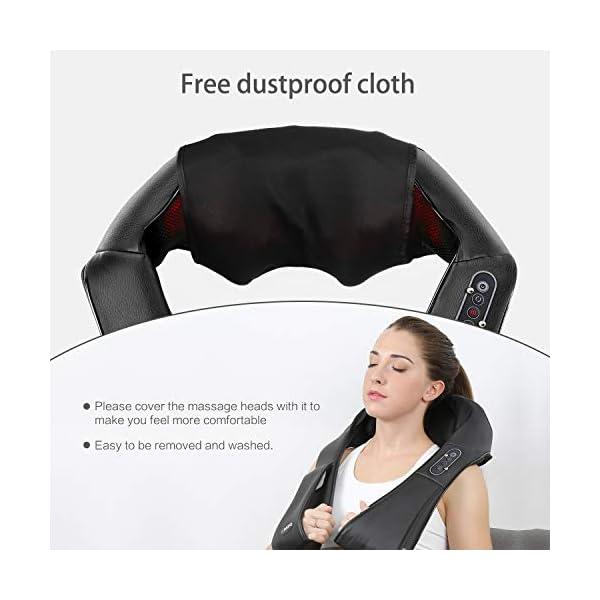 Naipo Massaggiatore per Collo e Spalle Shiatsu Elettrico Massaggi per Cervicale, Schiena con Profondo Massaggio… 2 spesavip