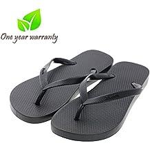 Memorygou Flip-Flops Beach Slim Sandal For Men, Black Design Comfort Proof Slippers Black