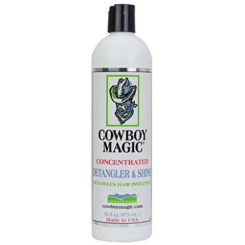 - Cowboy Magic Concentrated Detangler and Shine great for Pets and Human Hair! (16 fl oz (473 mL))