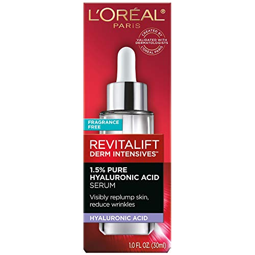 41hPCm7YaPL - Pure Hyaluronic Acid Serum By L'Oreal Paris Skin Care I Revitalift Derm Intensives 1.5% Pure Hyaluronic Acid Anti-Aging Face Serum To Visibly Plump & Reduce Wrinkles I 1.0 Oz