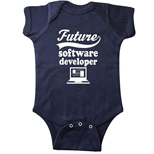 inktastic - Future Software Developer Infant Creeper Newborn Navy Blue - Future Software