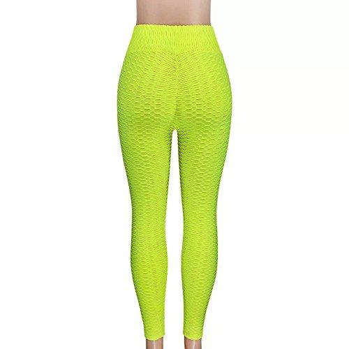 Estilos Pilates Pantalones Flaco 1 Alta Running Deportivas Elástico Verde Yoga Para Doblar Pantalón Correr Leggings Múltiples De Mujer Fitness Gusspower Cintura qgw1ZZT
