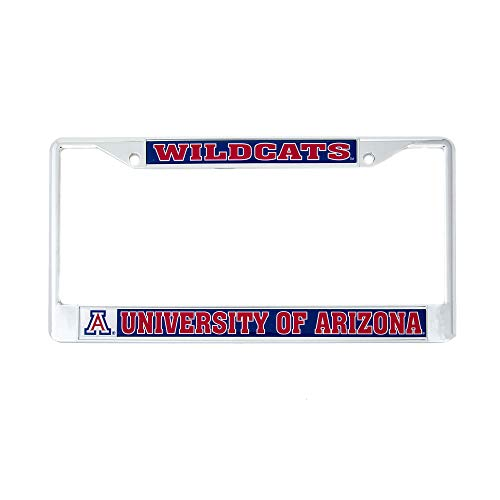 (Desert Cactus University of Arizona Wildcats Metal License Plate Frame for Front Back of Car Officially Licensed UA (Mascot))