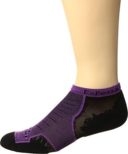 Pair Single - Thorlos Unisex Experia No Show Single Pair Night Berry Socks SM (Men's Shoe 6-8, Women's Shoe 7-9)
