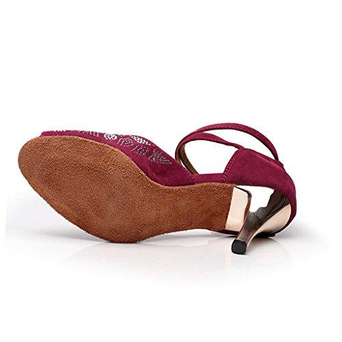 2 Sandals Peep Women's Con With Dance Sandali Practice Salsa Shoes Tango Misu Toe Latin 75 Ballroom 7F61U5qn