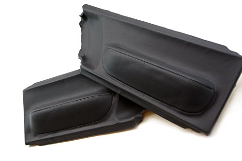 Autoguru VW Beetle 98-10 Door Panel Synthetic Leather Cover Black ()