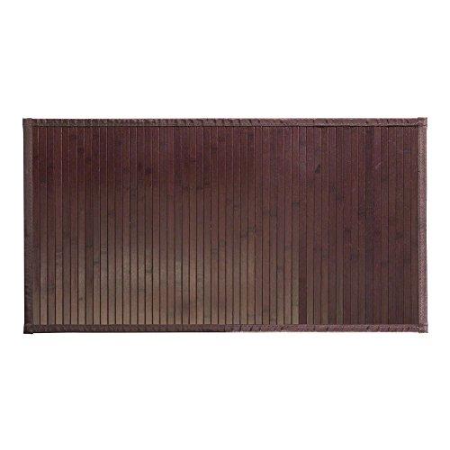 iDesign Formbu Bamboo Floor Mat Non-Skid, Water-Resistant Wood Rug for Bathroom, Kitchen, Entryway, Hallway, Office, Mudroom, Vanity, 21