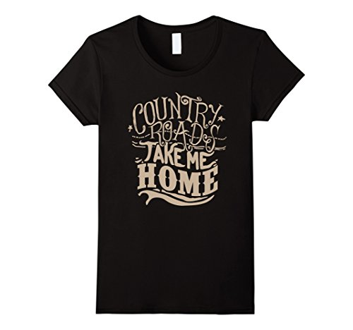 Womens Country Roads Take Me Home T-shirt XL - Womens Road Country